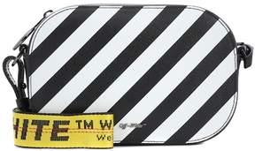 Off-White Striped leather shoulder bag