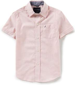 Nautica Little Boys 4-7X Short-Sleeve Chambray Woven Top
