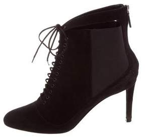 Christian Dior Suede Lace-Up Booties