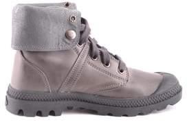 Palladium Women's Grey Leather Ankle Boots.