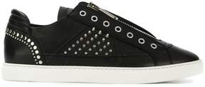 DSQUARED2 studded zipped sneakers
