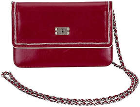 One Kings Lane Vintage Chanel Burgundy Wallet on Chain - Vintage Lux