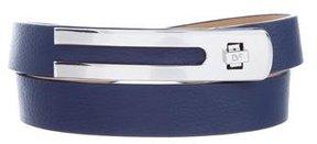 Diane von Furstenberg Pebbled Leather Belt