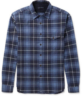 Alex Mill Slim-Fit Checked Brushed Cotton-Flannel Shirt