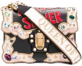 Dolce & Gabbana Lucia appliquéd shoulder bag