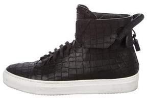 Buscemi x En Noir 125MM Embossed Sneakers