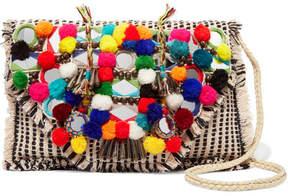 Antik Batik - Udipi Embellished Woven Cotton Shoulder Bag - Off-white