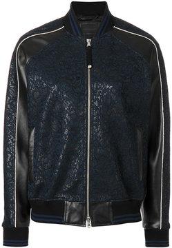 Diesel Black Gold floral detail bomber jacket