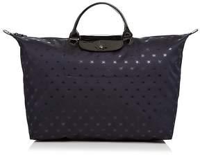 Longchamp Le Pliage Étoiles Nylon Weekender - NAVY BLUE/GUNMETAL - STYLE