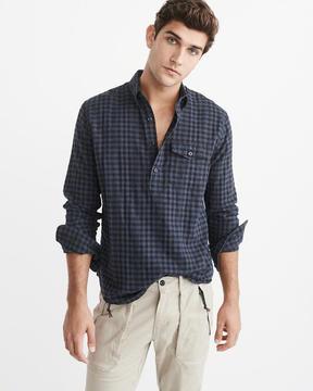 Abercrombie & Fitch Herringbone Popover Shirt
