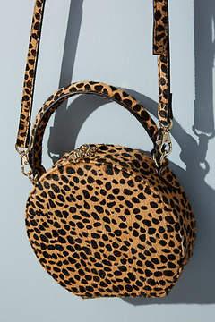 Anthropologie Circular Leopard-Print Crossbody Bag