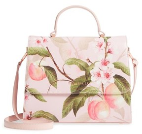 Ted Baker Dipelta Peach Faux Leather Satchel - Pink