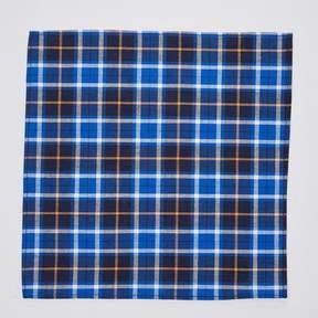Blade + Blue Navy & Orange Plaid Pocket Square