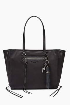 Rebecca Minkoff Always On Side Zip Regan Tote With Charge - BLACK - STYLE