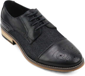 X-Ray Black Fab Mixed Media Cap Toe Oxford - Men