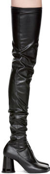 MM6 MAISON MARGIELA Black Cylinder Heel Over-the-Knee Boots