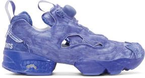 Vetements Blue Reebok Edition Instapump Fury Sneakers