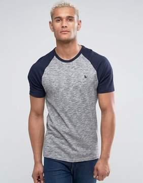 Jack Wills Verwood Raglan T-Shirt In Gray Marl