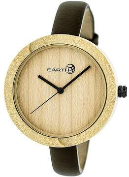 Earth Yosemite Collection ETHEW3701 Unisex Wood Watch with Leather Strap