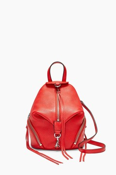Rebecca Minkoff Convertible Mini Julian Backpack - RED - STYLE