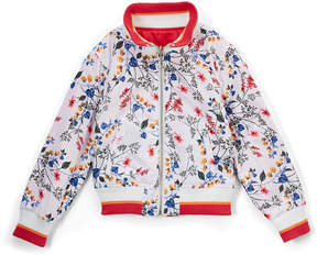 Urban Republic White & Red Floral Reversible Bomber Jacket - Toddler & Girls