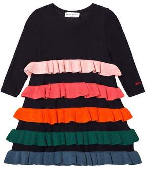Sonia Rykiel Navy Striped Knit Dress