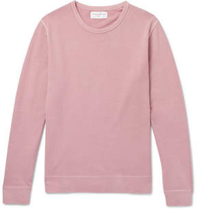 Officine Generale Garment-Dyed Loopback Cotton-Jersey Sweatshirt