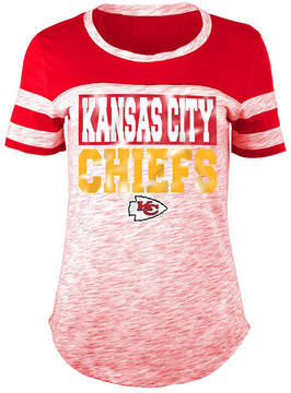 5th & Ocean Women's Kansas City Chiefs Space Dye Foil T-Shirt