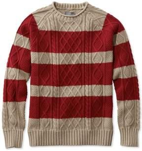 L.L. Bean L.L.Bean Signature Fisherman Sweater, Rollneck Stripe
