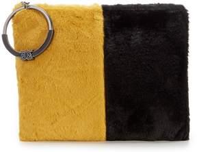 Sam Edelman Mavis Faux-Fur Colorblock Clutch
