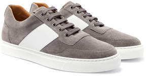Harry's of London Mr Jones Bolt Leather-Panelled Suede Sneakers