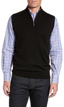 Peter Millar Men's Crown Soft Merino Blend Quarter Zip Vest