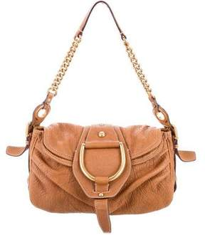 Dolce & Gabbana Grained Leather Flap Bag - BROWN - STYLE