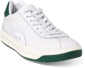 Ralph Lauren Court 100 Leather-Mesh Sneaker