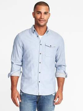 Old Navy Slim-Fit Double-Weave Shirt for Men