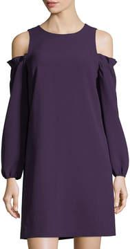 Eliza J Balloon-Sleeve Cold-Shoulder Dress