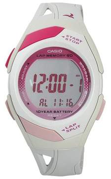 Casio Women's 60-Lap Sports Watch - White (STR300-7)