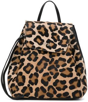 No21 animal print drawstring backpack
