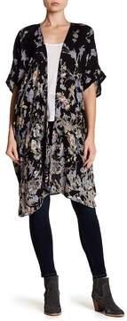 Angie Long Floral Print Kimono