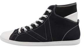 Louis Vuitton Canvas High-Top Sneakers