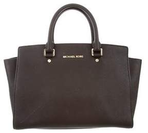 MICHAEL Michael Kors Textured Leather Satchel