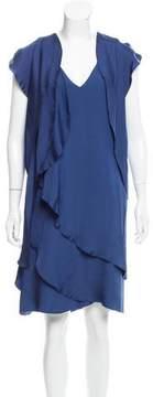 Bottega Veneta Draped Silk Dress w/ Tags