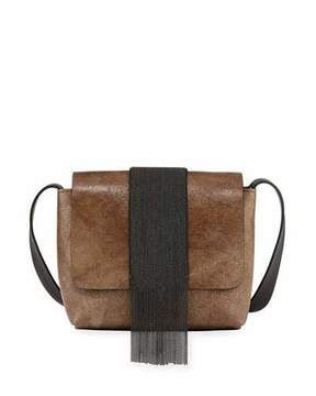Brunello Cucinelli Mixed Metallic Mirrored Crossbody Bag