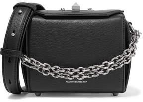 Alexander McQueen Box Bag 16 Textured-leather Shoulder Bag - Black