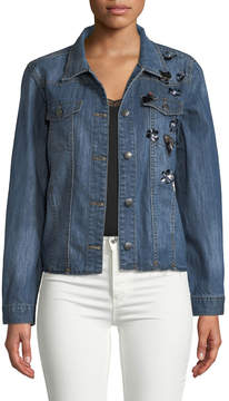 Velvet Heart Ainsley Embellished Denim Jacket