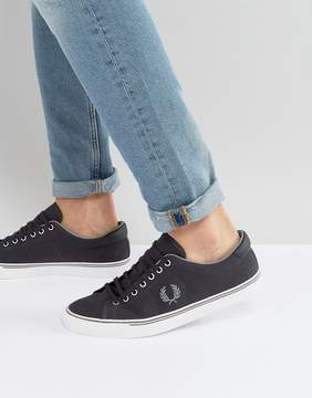 Fred Perry Underspin Canvas Sneakers in Charcoal