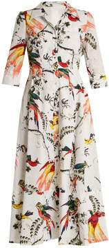 Erdem Kasia Paisley Parrot-print cotton shirtdress