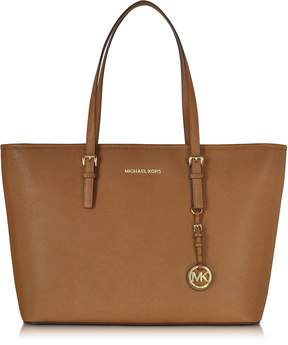 Michael Kors Jet Set Travel Medium Luggage Saffiano Leather Top-Zip Tote - ONE COLOR - STYLE