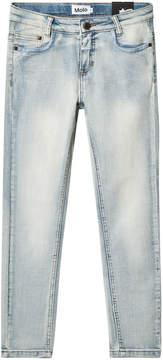 Molo Blue Denim Heavy Blast Anastasia Woven Jeans