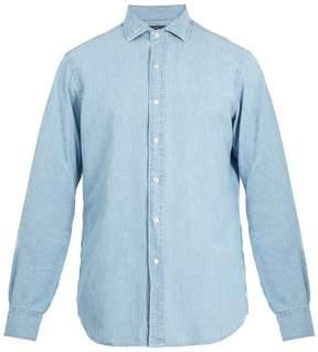 Polo Ralph Lauren Spread-collar cotton-chambray shirt
